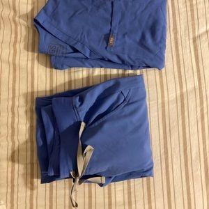 Figs scrubs Tall set Ceil blue